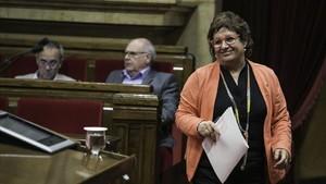 Dolors Bassa, en el Parlament, en una imagen de archivo.