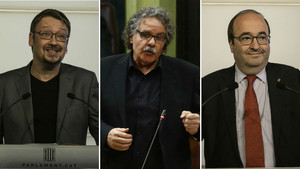 Xavier Domènech, Joan Tardà y Miquel Iceta.