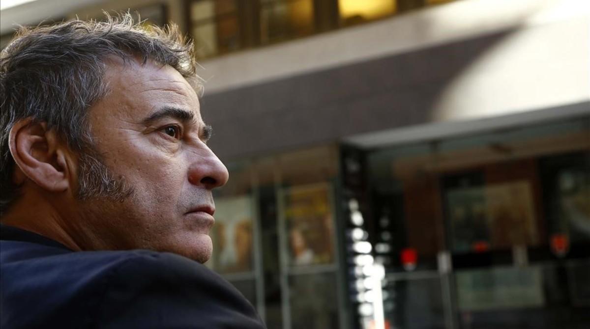 Eduard Fernández, el miércoles, en la librería Ocho y Medio de Madrid.