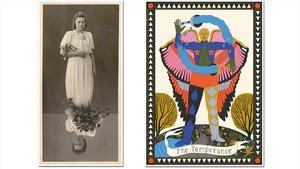 'La Emperatriz', de Susana Blasco (izquierda) y 'La templanza', de Sonia Pulido.