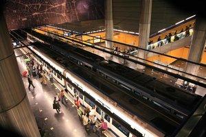 Estación de Metro en el aeropuerto de Barajas.