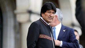 El presidente de Bolivia, Evo Morales, tras conocerla decisiónla Corte Internacional de Justicia de La Haya.
