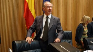 El exministro Rodrigo Rato, durante una comparecencia en la Comisión de Economía del Congreso en el 2012.