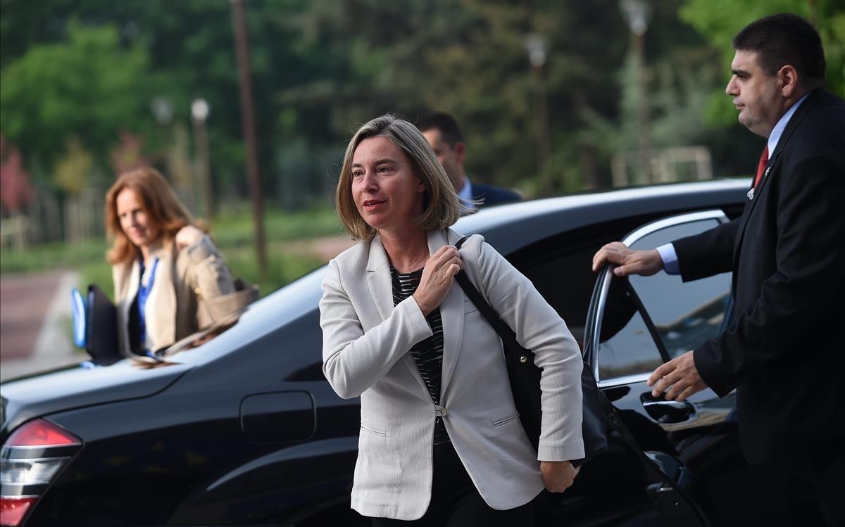 Federica Mogherini,jefa de la diplomacia europea.