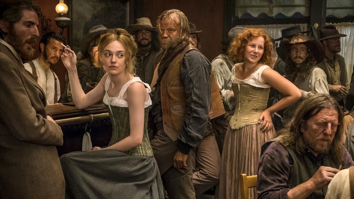 Un fotograma de la película 'Brimstone', exhibida en Sitges.