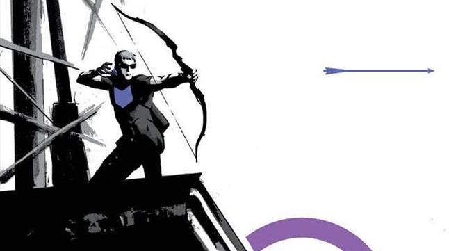 Fragmento de la portada de la serie 'Ojo de halcón', dibujada por David Aja.