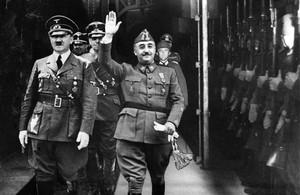 Franco con Hitler en su encuentro en Hendaya el 23 de octubre 1940.