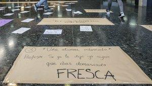 Alumnes de Filosofia, contra el masclisme d'un professor i la passivitat de la Universitat de València