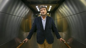 El historiador Mario Amorós, esta semana en Barcelona.