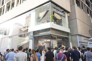 Nueva tienda de Huawei en Madrid.