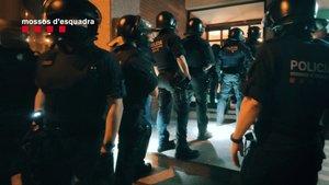 Imagen del operativo de los Mossos, este miércoles en Barcelona.