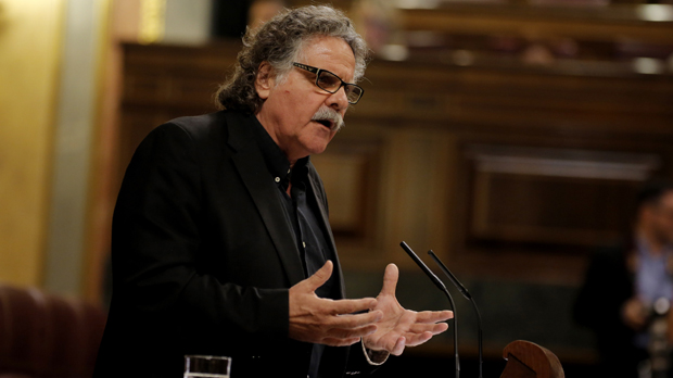El comentario de Joan Tardà durante su intervención en el Congreso.