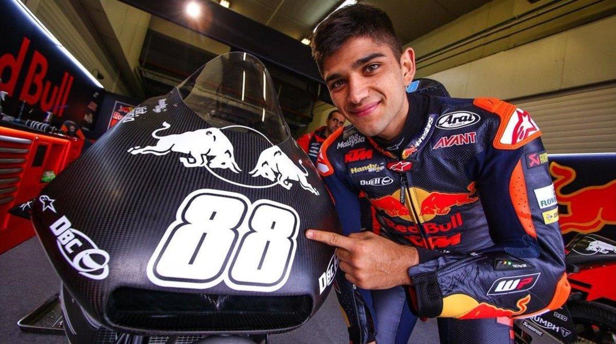 Jorge Martin y su nueva KTM de Moto2.