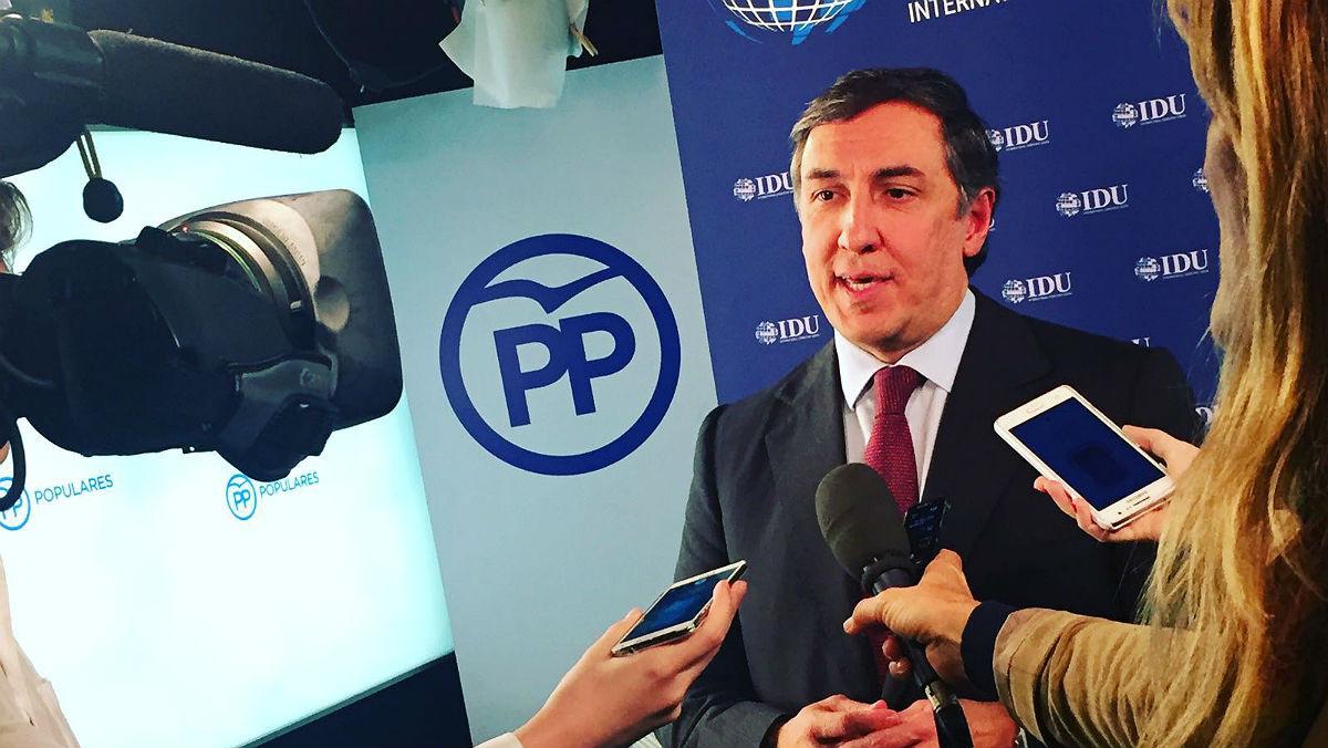 El secretario de Relaciones Internacionales del PP, José Ramón García Hernández.