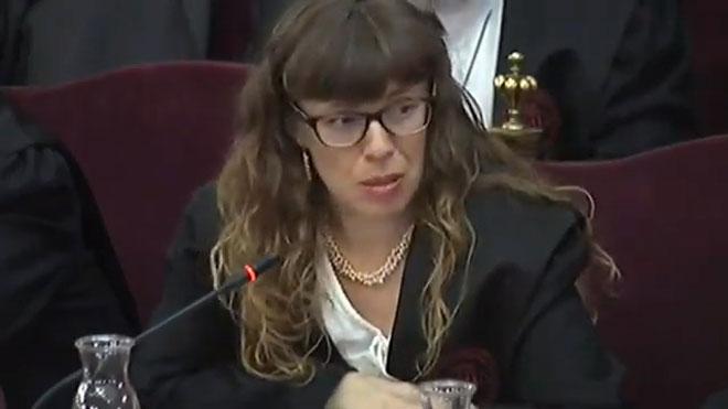 Juicio del procés. Olga Arderiu, abogada de Forcadell: Se la juzga por quien es y no por lo que ha hecho.