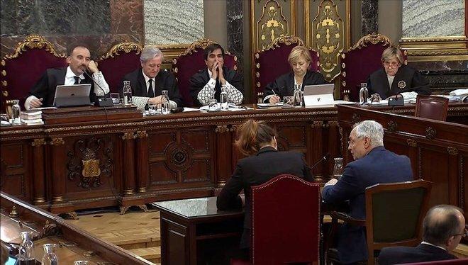 El juicio del 'procés', en la sesión del 29 de abril.