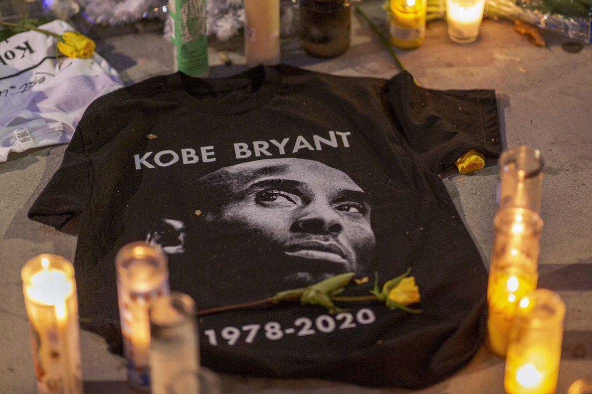 Homenaje a Kobe Bryant, en Los Ángeles.