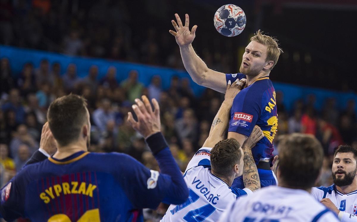 El Barça es llueix en el debut de Palmarsson