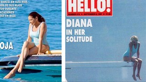 La portada de Hola! con Pantoja y la portada de LadyDi, hace 20 años.