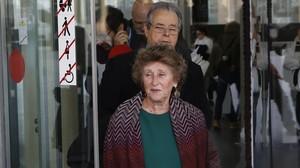 Mariona Carulla, presidenta del Palau de la Música, acude a declarar como testigo en el juicio por el expolio de la institución.