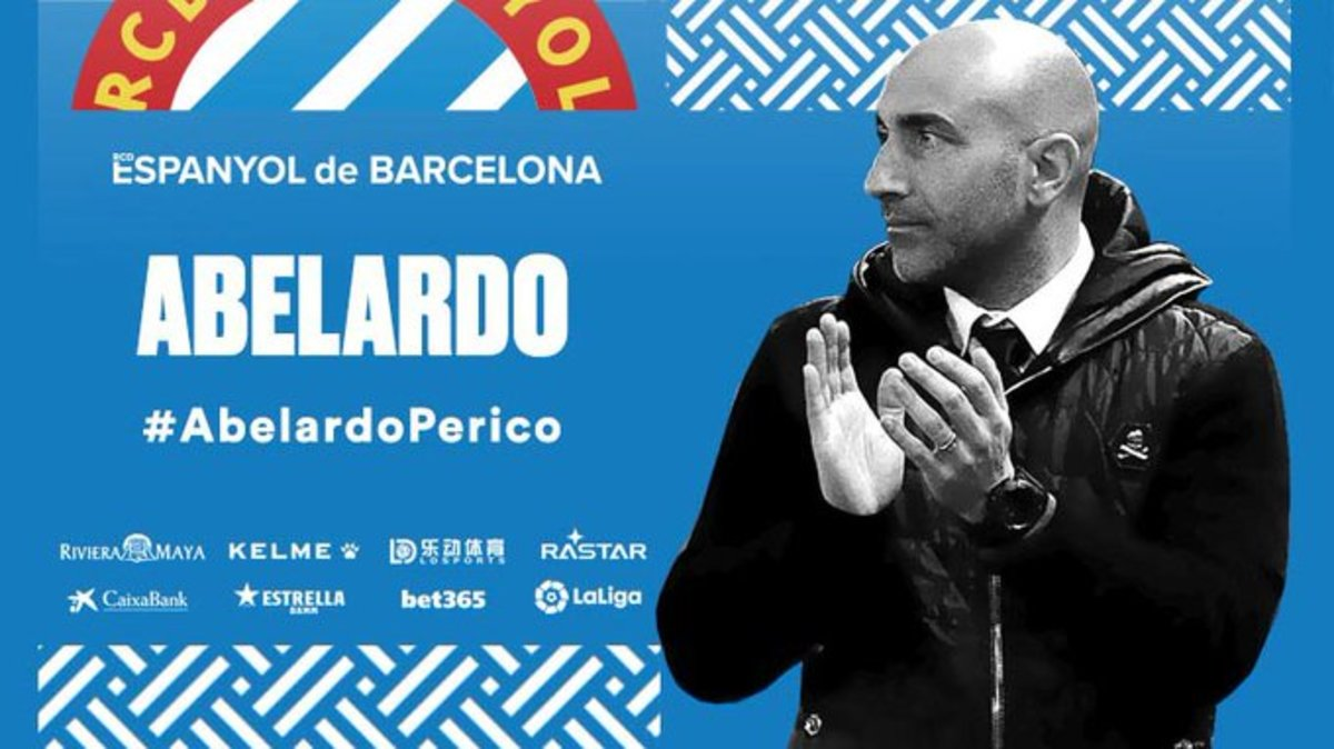 El mensaje con el que el Espanyol anunció la llegada de Abelardo.