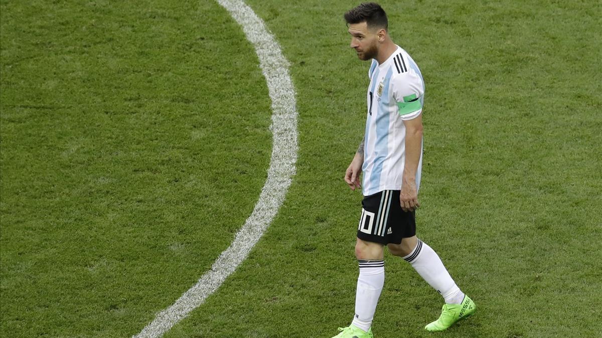 Messi, abatido tras ser eliminado por Francia en Kazán.