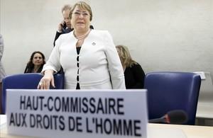 Michelle Bachelet, la nueva alta comisionada del Consejo de Derechos Humanos de las Naciones Unidas.