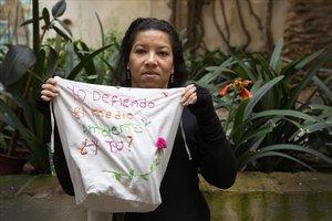 Milena Florez, vicepresidenta del movimiento Ríos Vivos, en Barcelona.