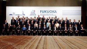 Los ministros de finanzas del G20 reunidos en Fukuoka (Japón).
