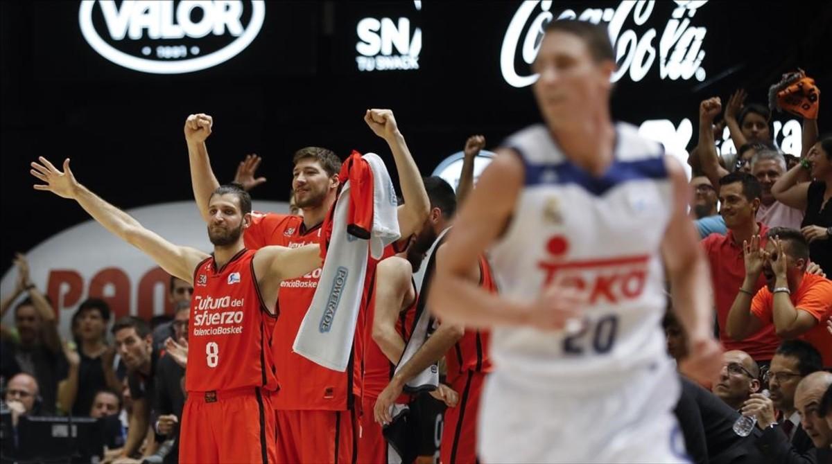 Un momento del Valencia Basket-Real Madrid.