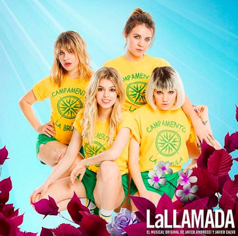Nerea Rodríguez -abajo izquierda- junto a sus compañeras de en el cartel de La Llamada