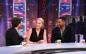 Pablo Motos, Margot Robbie y Will Smith, en El hormiguero.