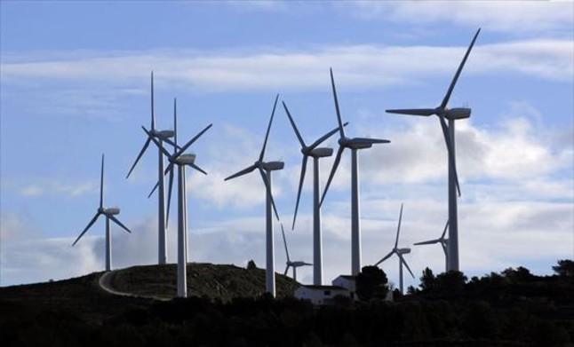 Parque eólico del Coll de lAlba, en el término municipal de Tortosa.
