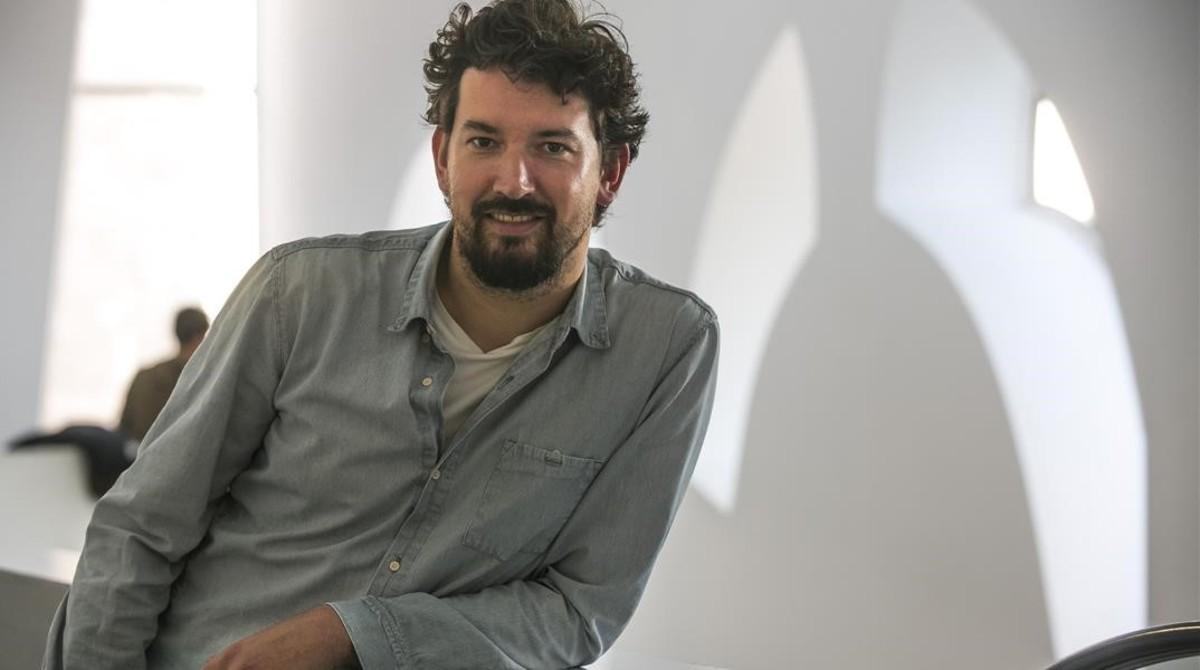 Pedro Aguilera, director de Demonios tus ojos, en el CCCB.