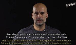 Pep Guardiola, en el vídeo de Tsunami Democràtic.