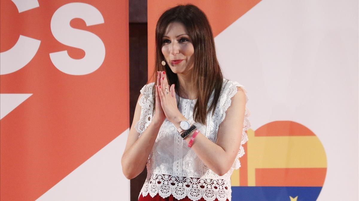 La portavoz de Cs, Lorena Roldán, tras ganar las primarias catalanas.