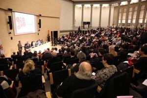 Presentación de la Convenció Constituent Ciutadana de Catalunya (CCCC) en el paraninfo de la facultad de Medicina de la Universitat de Barcelona, este sábado.
