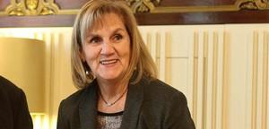 La presidenta del Parlament, Núria de Gispert, el 9 de gener passat. EFE / TONI ALBIR