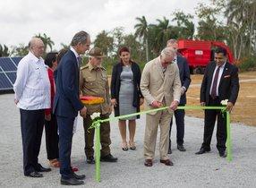 El principe Carlos de Galesen parque solar de La Habana,Cuba.