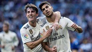 El Real Madrid en el encuentro ante el Melilla.