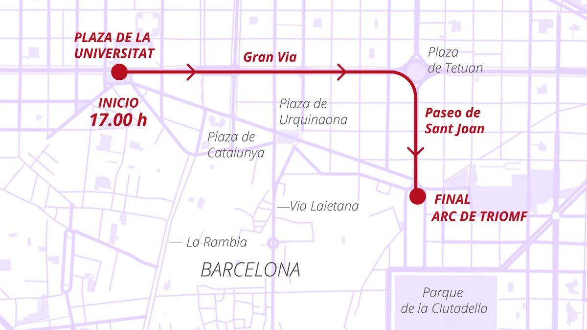 Manifestación del 8 de Marzo en Barcelona: horario y recorrido