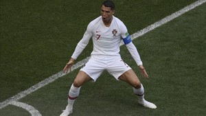 Cristiano Ronaldo celebra el gol del triunfo luso.