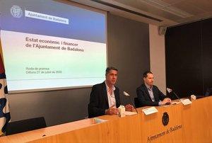 Rueda de prensa sobre la situación financiera del Ayuntamiento de Badalona.