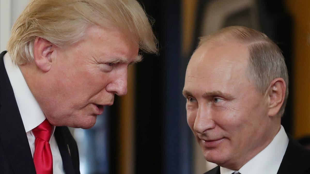 Trump yPutin en la cumbre de la APEC el pasado mes de noviembre.