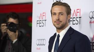 Ryan Gosling, en Los Ángeles, tras la presentación de The big short.