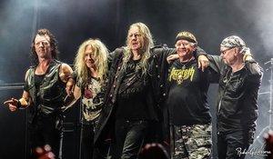 Un concierto del grupo Saxon.