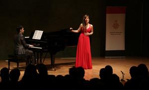 La soprano hospitalense Laura del Río en el Concurso Internacional de Música de les Corts