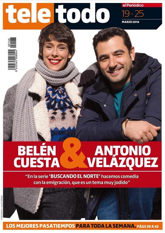 Portada del suplemento 'Teletodo' protagonizada por Antonio Velázquez y Belén Cuesta.