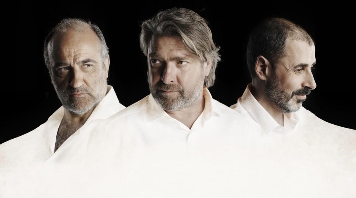 Francesc Orella, Pere Arquillué y Jordi Villanueva, protagonistas de Art, de Jazmina Reza. Teatre Goya. De octubre a abril.