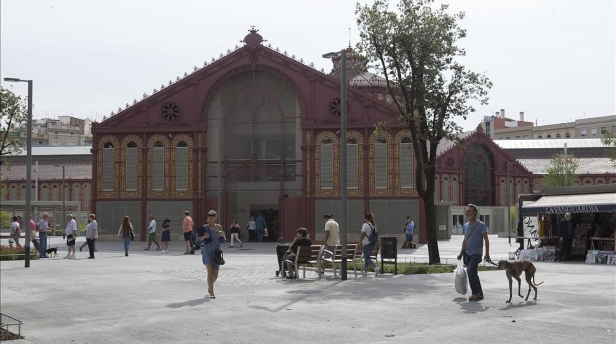 Una imagen del Mercat de Sant Antoni, en Barcelona.